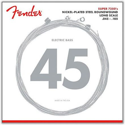 Fender 7250M Super 7250's 45-105 Nickel Plated Steel Bass Guitar Strings